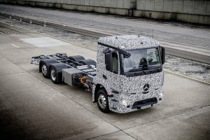 The first fully electric truck the Mercedes-Benz urban eTruck with an admissible weight of up to 26 tonnes was recently launched by Daimler Trucks in Stuttgart.