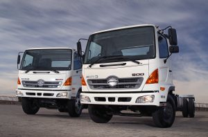 Running changes to the Hino 500-series include fitment of speed limiters, ABS brakes and a number of other non-regulatory additions.