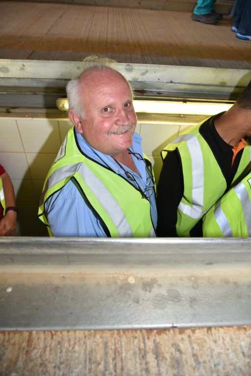 Riaan Piek of Imperial Retail Division – getting a bird's eye view from under a truck at the recent Operator's Brake & Tyre Watch day.