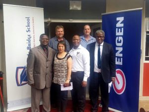 It was a happy day for Engen and Castle Bridge School when a donation of R360 000 was made to the school by Engen and the owners of the Engen Bloemfontein 1-Stop.