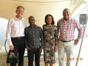 From left to right: Murray Bolton (CEO – Cargo Carriers); Rhulani Manganyi (Ezethu Logistics - Distribution Supervisor);Nandipha Makhumbi (Ezethu Logistics Distribution Supervisor) & Siviwe Zweni (Ezethu Logistics Contracts Manager).