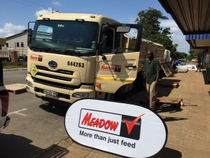 Meadow Feeds truck on display