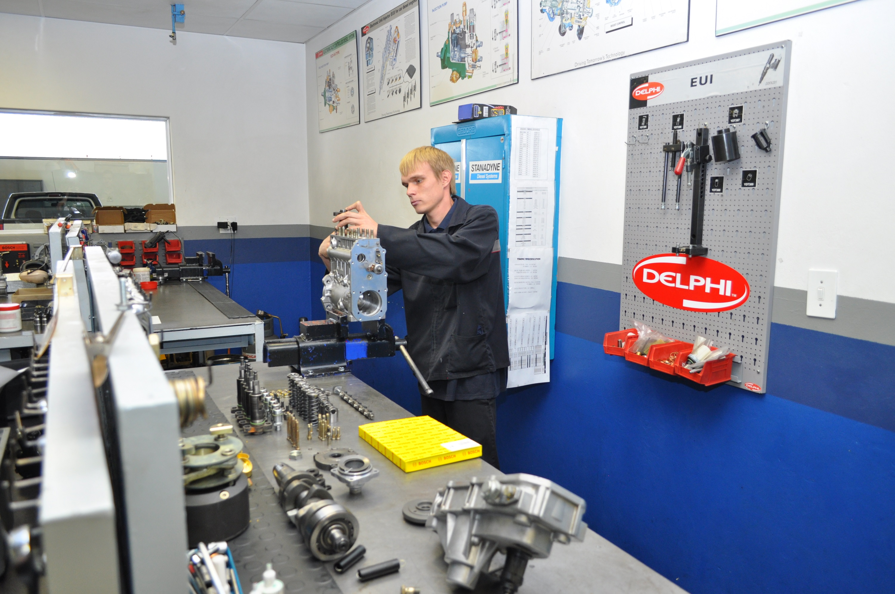 As an approved Delphi agency, all repairs undertaken at RFI's Germiston-based facility carry a full Delphi guarantee. The OEM's software is available for E3 diesel electronic unit injector testing, making it possible for the RFI team to access the trim code of the injector.