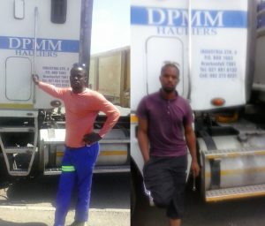 From left to right: Vuyani Dingiswayo and Lucas Bota from DPMM Logistics (Pty) Ltd