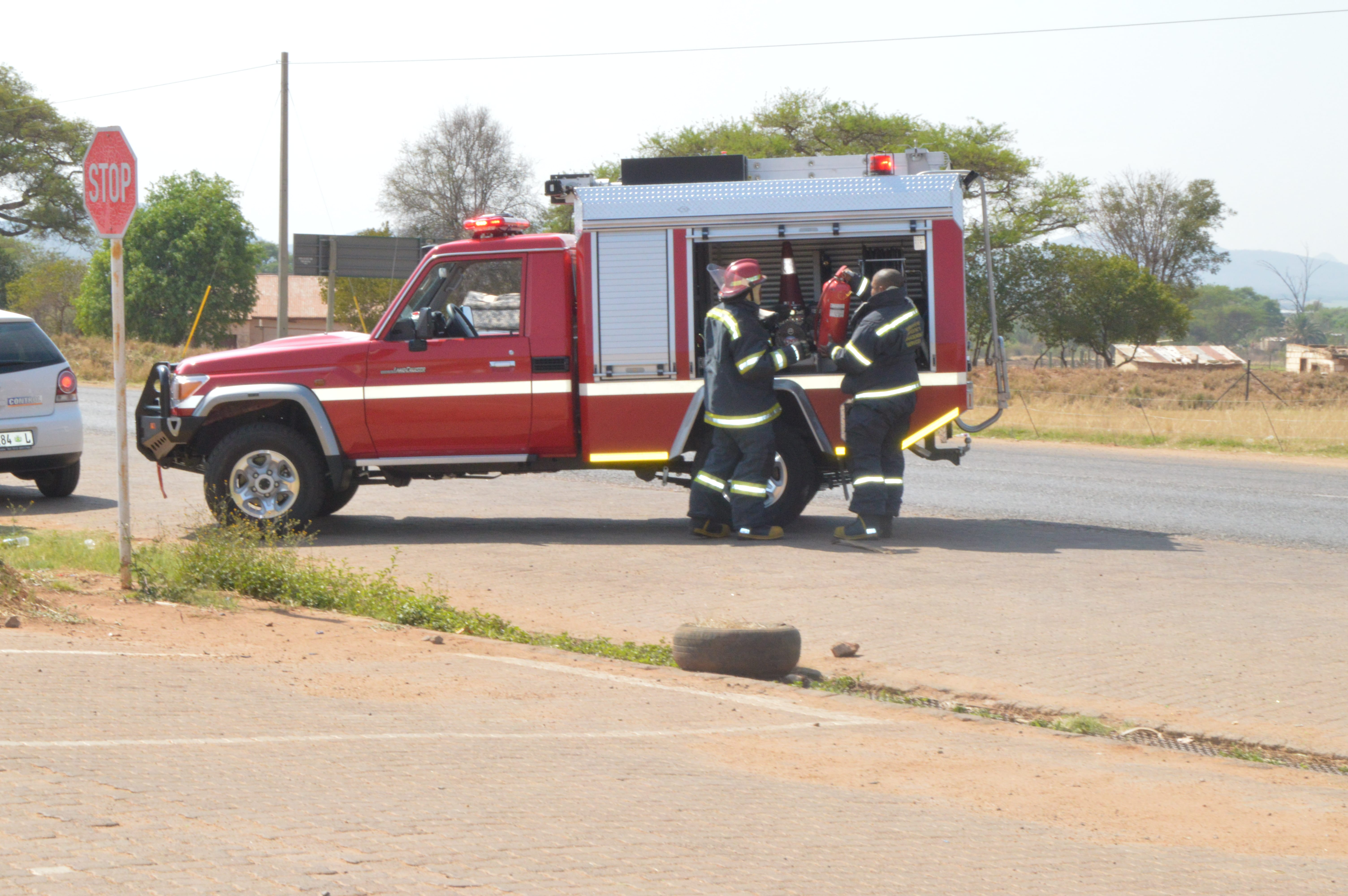 One of the RIV firefighting units delivered to Sekhukhune Municipality by Amasondo Fleet Services