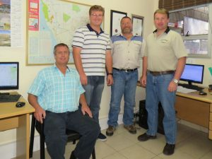 A family affair, from left: Managing director Nico van Jaarsveld; financial manager Wayne van Jaarsveld; operations manager Colin Coetzee; and logistics manager, Stephen Coetzee