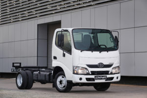 The Toyota Dyna has moved out of the medium commercial vehicle category and has been reclassified as a light commercial vehicle.