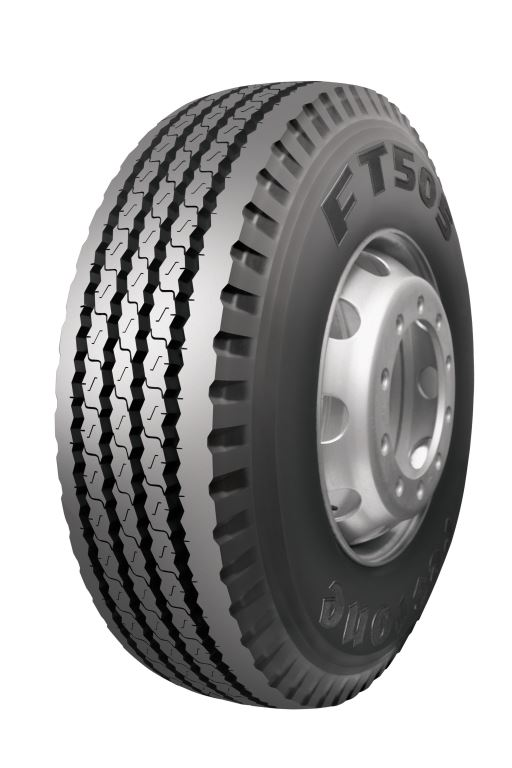 The new FT505 is available in 315/80R225 and is aimed at the regional and long-haul market dominated by semi-trailer and interlink combinations.