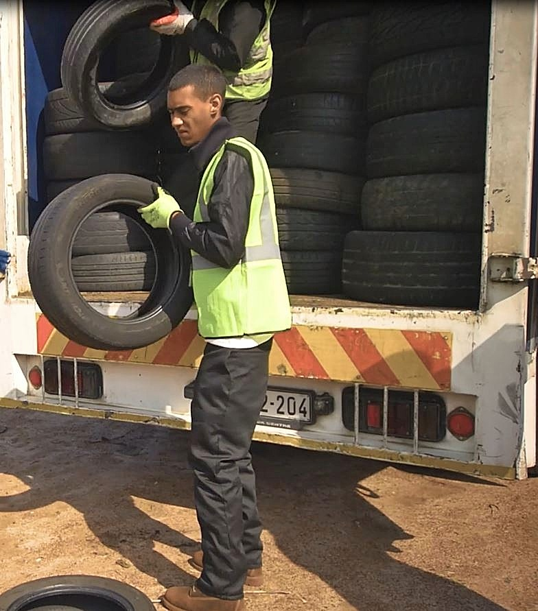 """Haroun Gallie, one of REDISA's registered transporters. """"In joining the REDISA family, I've achieved something. I've got a job, I've got my own business. Things I didn't have before."""""""
