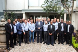 Hino South Africa has introduced a year-long course to train truck sales staff from its dealerships. The course has met with an enthusiastic response from all. Seen here are the delegates along with the dealer principals of the participating dealerships and the Hino South Africa head-office team.