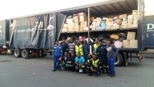 A call from the company to the employees of Dawn Logistics went out to donate whatever they could for the relief efforts in Knysna. The result was the delivery by the company of 22 tons of goods to the people of the area. Hats off to Dawn Logistics and its employees.