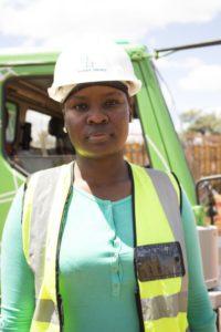 Tshimangadzo Masindi on site at the Musina ring road project.
