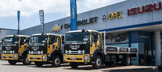 Italtile branded trucks