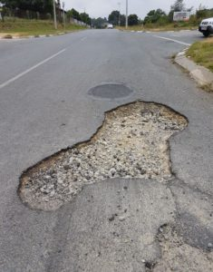 One of the 117 483 potholes around Johannesburg that have been fixed by the Johannesburg Roads Agency over the past year. Salute to the Johannesburg Roads Agency.