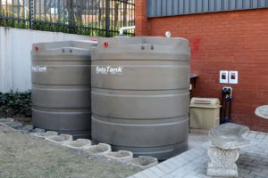 Part of the 'greening' of DHL's building includes a state-of-the-art 10 000-litre rainwater harvesting system. The estimated payback period for the building's upgrades is currently around three years, down from an initial estimate of 4.5 years.