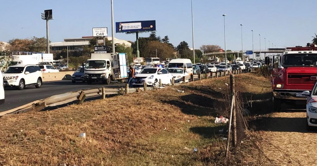 Traffic during the busy afternoon rush was severely disrupted by the incident with one lane of the highway northbound being closed to traffic.