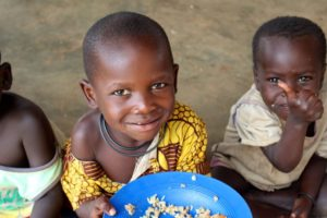 Happy at getting their tummies full are these youngsters from the rural areas of Malawi. Thanks Imperial Logistics!