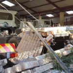 This picture epitomises the devastation that greeted staff at Honeydew Hino after they emerged from their offices following a ferocious tornado that hit the dealership head-on last Monday, October 9th. Walls collapsed, vehicles were damaged, trees were uprooted, roof tiles flew like confetti all over the property, door panels and shutters were wrenched from their mountings. It was bad. More pictures are shown below. And now the rebuilding begins.