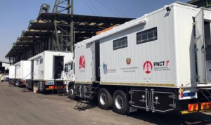 The completed TFM built units ready for LTE Medical & Supplies to rock and roll into the Mozambique countryside to bring much needed TB screening services to the rural populace.