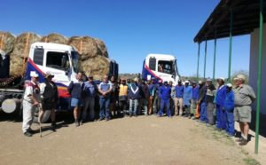 The team from Grindrod Integrated Logistics delivering bales of hay to the drought stricken Eastern Cape.