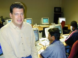 A blast from the past. This picture of Stefan Joselowitz, CEO of MiX Telematics, goes back to the year 2000 when the then Matrix Vehicle Tracking was making giant strides in the local market. Under the leadership of Joselowitz, the company has expanded into an international force which is showing strong growth in overseas markets while continuing to thrive in our local market under the MiX Telematics banner. It's a great South African success story.