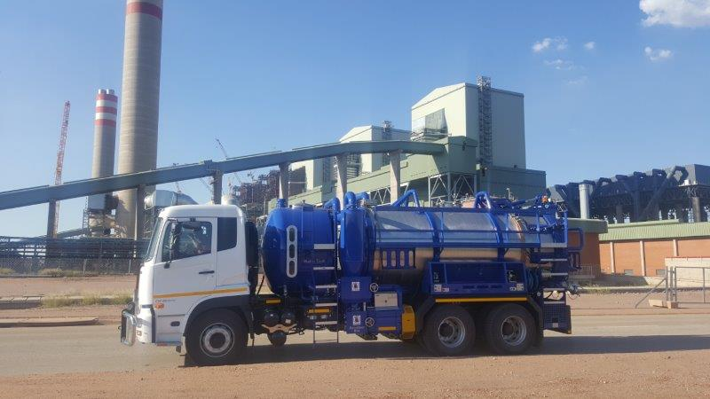 The Highpoint Vacuum HPVR 1000 cleaning truck is ideal for cleaning operations at power stations.