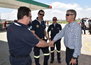 Con Roux, commercial manager of N3 Toll Concession, extends his thanks to some of the volunteer emergency services personnel who willingly gave of their time to help out at crash scenes on the N3 during this past holiday season. Salute to them all.