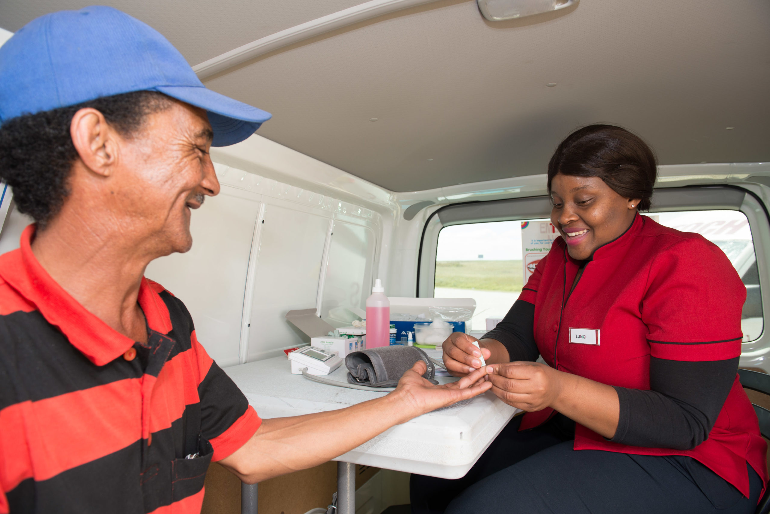 A truck driver takes advantage of the free health screenings on offer as part of Engen's annual Driver Wellness programme which rolled out at 24 Engen Truck Stops in five provinces from April to November 2017.