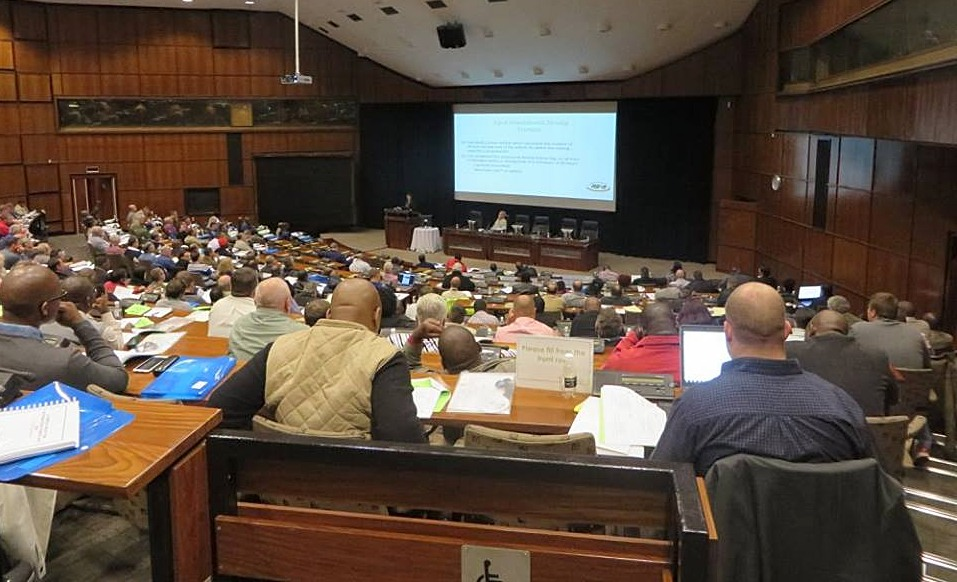 Apart from being updated on valuable and pertinent issues that affect transport operators, each delegate to the Annual Road Transport Legislation Workshop will receive an electronic or printed version of the National Road Traffic Act Compilation as well as the presentations of the speakers. This is the crowd at a past event.