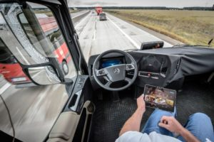 The autonomous truck was launched by Mercedes-Benz in Europe in 2015. Termed the Mercedes-Benz Future Truck 2025, it incorporates what is termed the Highway Pilot – a bundle of technology which allows the truck to drive itself while the driver relaxes. The Mobility Centre for Africa is paving the way locally for the introduction of such vehicles in the future.