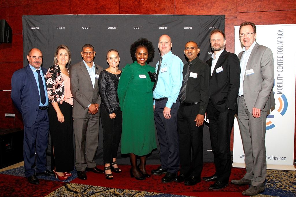Seen at the MCA's Future Mobility Roundtable event in Cape Town were, from left: Gideon Treurnich, Chantelle Hickley and Victor Radebe all from the Mobility Centre for Africa; Bonnie Horbach, Netherlands Consulate General; Yolisa Kani, Uber; Ivan Reutener, Mobility Centre for Africa; Prasanth Mohan, National Department of Transport; Antoine Aubert, Uber; and Peter Morsink, Royal HaskoningDHV.