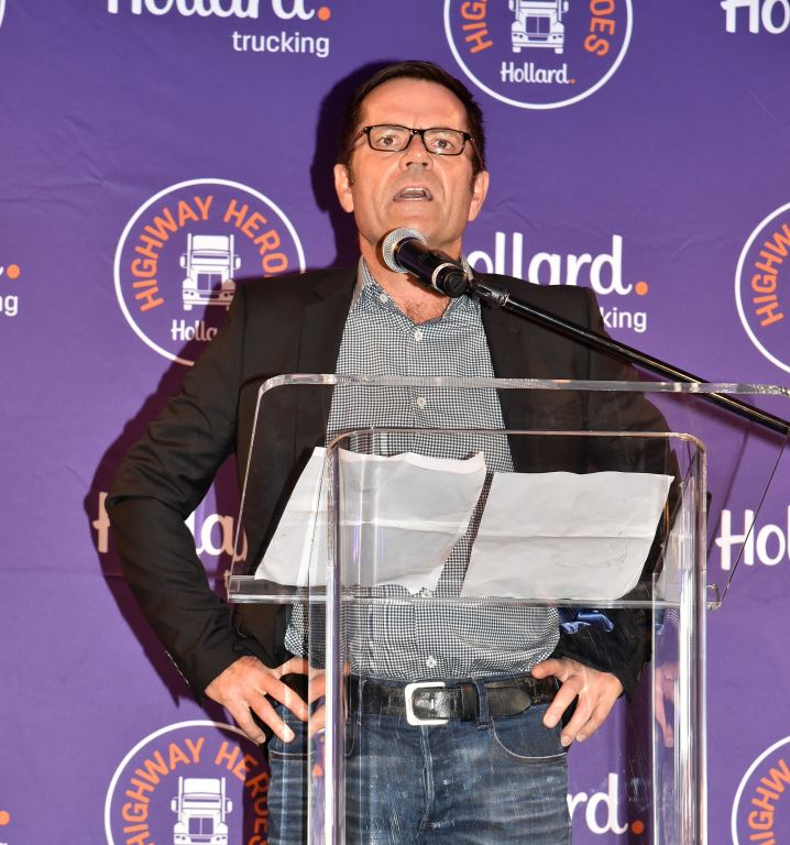 Wayne Rautenbach, Head, RCV and Hollard Trucking South Africa, officially launches the Hollard Highway Heroes 2018 competition at a fun-filled function held in Johannesburg recently. The function was attended by transport operators, insurance brokers and a host of other industry guests.