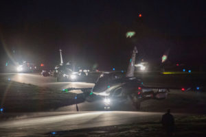 This picture - released by the French military on April 14th - shows French Rafale fighter jets preparing to take off on April 13th 2018 from the Saint-Dizier military base in eastern France. The US, UK and France launched strikes on targets associated with the chemical weapons capabilities in Syria following a suspected chemical weapons attack in Douma. The tensions in the Middle East are making the outlook for oil prices negative.