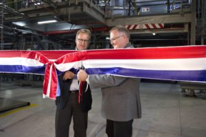 Stefan Fuchs (left), CEO of FUCHS Petrolub SE, and Paul Deppe, managing director of FUCHS Lubricants South Africa, official open the R125-million grease plant in Isando.