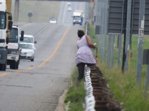 She made it but such foolishness by pedestrians resulted in 15 deaths during the period January to May 2018 on the Bakwena Freeways. According to SANRAL, about 70% of adult pedestrians killed on South African roads are under the influence of alcohol/drugs.