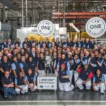 Managament and employees celebrating the production of 1-million EA111 engines in the VW Engine Plant. A magnificent achievement for the company and for South Africa.