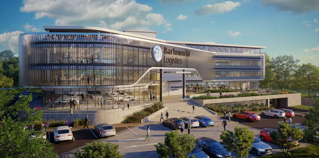 This is the fancy new building that will house the head-quarters of Barloworld Logistics. The company will take occupancy in the first half of 2019.
