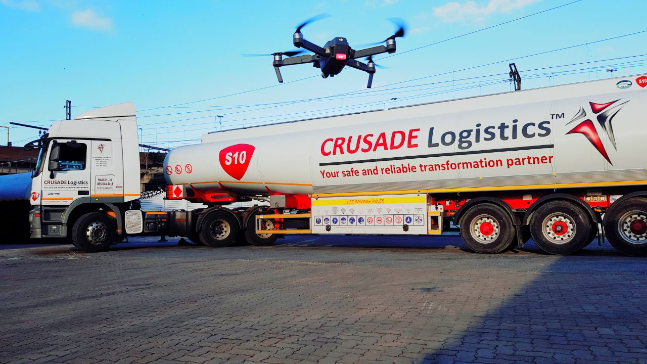 Using drones to give drivers visual cues and familiar landmarks on an electronic journey plan, Crusade Logistics has seen a marked improvement in driver safety while also reducing the risk of trucks getting lost with a full load of fuel on board.