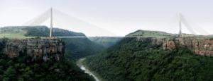 Artist's impression of the Msikaba bridge.