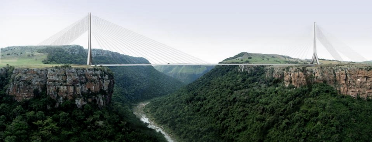 Artist's impression of the Msikaba bridge.