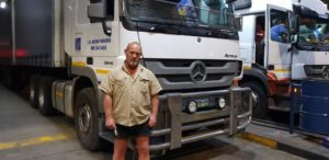 A professional truck driver for over 22 years, Peter Theron who drives for L.M. Botha Vervoer, beat the midnight deadline at Highway Junction but is not happy about the increase saying it will cost the company's 5-truck fleet an extra R60 000 per month in fuel.