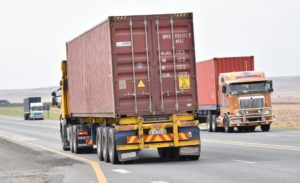 This picture shows the extent of high-cube containers being hauled on our roads. This is on the N3, a critical import/export route. Three trucks all hauling high cubes at 4.6m. If the one year extension on the moratorium had not been granted, the three trucks seen here would have been operating illegally after January 1, 2019.