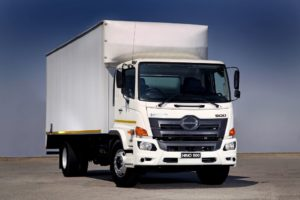 The Hino 500 wide cab. Dealer orders for this model are running at 80% in favour of the automatic option.