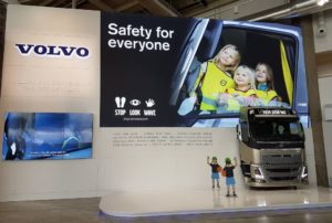 The Stop, Look, Wave campaign greets all on arrival at Guthenburg airport in Sweden, known as the home of Volvo. It's all about helping children understand how to best behave around trucks, buses and cars and to ultimately keep them safe on the roads.