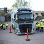 Kids at a school in Sweden get shown aspects like the blind spots around a truck where the truck driver will not see a pedestrian. Volvo Trucks is passionate about road safety with the Stop, Look, Wave campaign being just one of the many safety initiatives it has embarked on around the world.