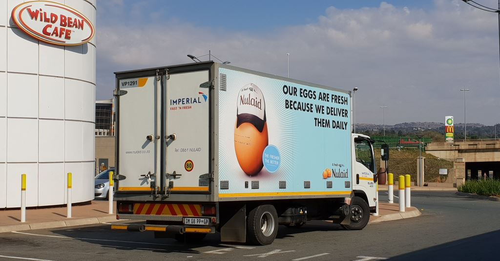 "To optimise its solution to Nulaid, Imperial Logistics has invested in purpose-built ""egg spec"" vehicles, with insulated bodies, vents and fans. The trucks also feature drop safes in the cabs for cash handling. Some 12 million eggs are distributed annually."