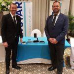 A proud Rudy du Plooy (left), Netstar General Manager: Software Development and Quintin De Kok, Netstar Developer, with the TT100 awards.