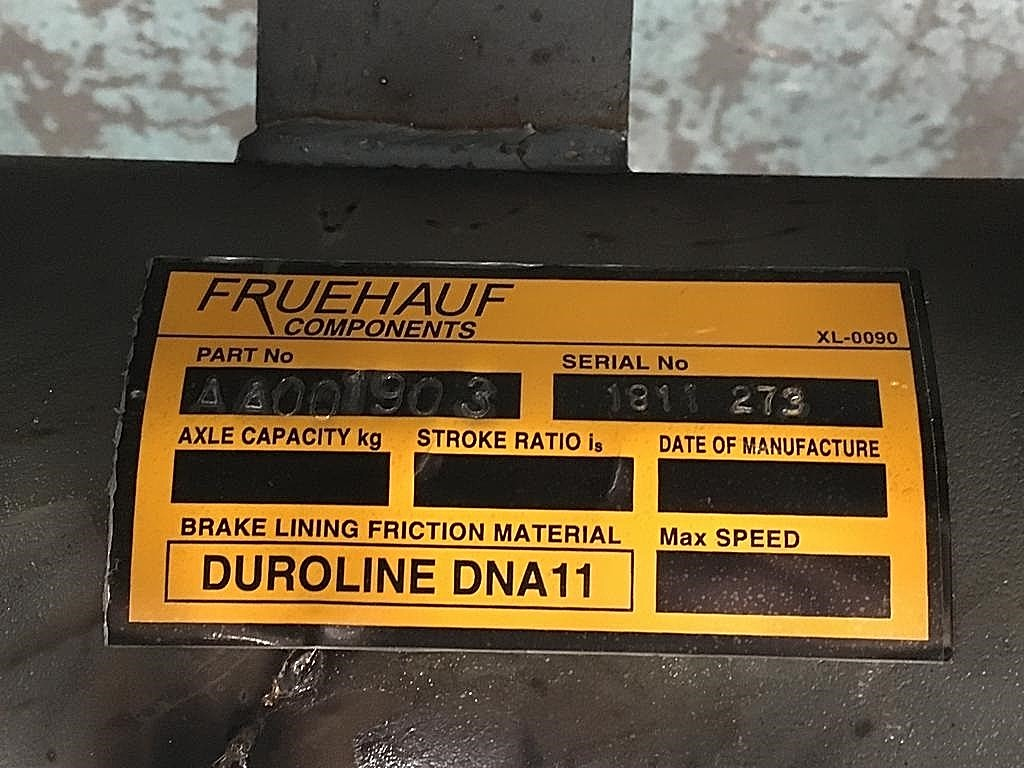 Transportation Components is proud of the fact that Duroline is now imprinted on the axle data plate fitted to Henred Fruehauf axles to inform the user what lining to use to maintain the designed braking performance.