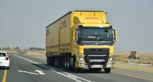 One of DHL's long haul trucks. Looking good on the N1.
