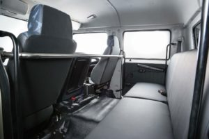 The Crew Cab of the new models provide seating for seven people, including the driver.